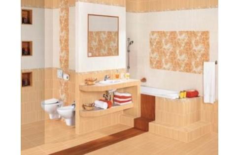 Плитка персикового цвета для ванной