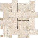 Travertini Mosaico intreccio Beige Lap Rett