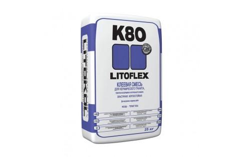 Клей для укладки плитки Litoflex К80 25kg