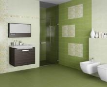 Плитка Сакура зелёный Шахтинская плитка (Россия)