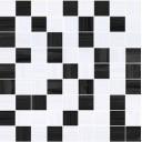 Stripes Мозаика черный-серый