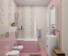 Плитка Белла розовый LB-Ceramics (Россия)