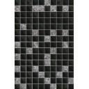 Плитка настенная Алжир черный низ 02 20х30