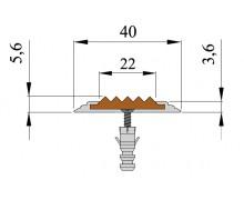 Алюминиевая полоса Стандарт 40мм*5.6мм