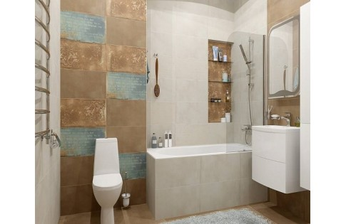 Плитка Gatsby white/Gatsby brown Gracia Ceramica (Россия)