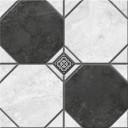 Керамогранит Лимбург 1Д тип 2 черно-белый (микс) 40х40