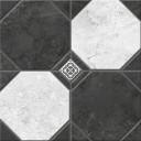 Керамогранит Лимбург 7Д тип 2 черно-белый (микс) 40х40
