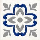 Декор Сиди-Бу-Саид серый (04-01-1-02-03-06-1001-2) 9,9х9,9