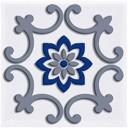 Декор Сиди-Бу-Саид синий (04-01-1-02-03-06-1001-4) 9,9х9,9