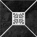 Риальто 1Т тип 1 Плитка настенная черная 20х20