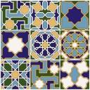 Плитка настенная (мозайка) Багдад микс верх 01 30х30