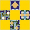 Плитка настенная (мозайка) Багдад желтый верх 02 30х30