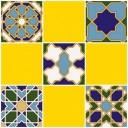 Плитка настенная (мозайка) Багдад желтый верх 03 30х30