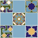 Плитка настенная (мозайка) Багдад синий верх 02 30х30