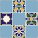 Плитка настенная (мозайка) Багдад синий верх 03 30х30