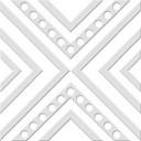 Декор Румба белый (04-01-1-02-03-81-00-1006-1) 9,9х9,9