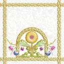 Декор Замоскворечье белый (04-01-1-04-03-00-281-3) 20х20