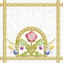 Декор Замоскворечье белый (04-01-1-14-03-00-281-4) 20х20