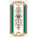 Декор Золотой бирюзовый (04-01-1-10-03-71-905-0) 25х50