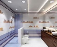 Плитка Кобальтовая сетка Ceramique Imperiale (Россия)