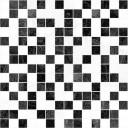 Crystal Мозаика чёрный+белый 30х30