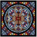 Бордюр Glass multi многоцветный 01