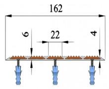 Алюминиевая Полоса с 5-ю противоскол. вставками (162мм*6мм)