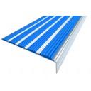 Алюминиевая Угол с 5-ю противоскол. вставками (160мм*34мм*6мм).синий 1м