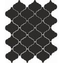 Арабески глянцевый черный 65001 26х30