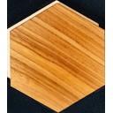 Гексагональная напольная плитка натуральное дерево 14.6*17