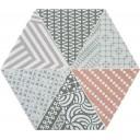Nordic Hexa Mix-3 Gris Coral 20x23