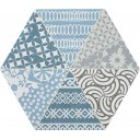 Nordic Hexa Mix-1 Gris Azul 20х23