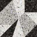 Терраццо 1Д Керамогранит серо-чёрный калейдоскоп 50х50