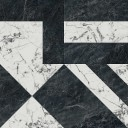 SG013302R Бьянко Неро белый чёрный лаппатированный 119,5x119,5x11