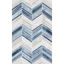 Плитка настенная Аника голубой низ 02 25х40