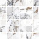 K949879LPR1VTE0 Marble-X Мозаика Бреча Капрайа Белый ЛПР 30x30 (5x5)
