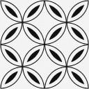Stream Керамогранит лепестки, белый (C-SM4A055D) 29,8х29,8